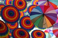 Flying Umbrellas Stock Image