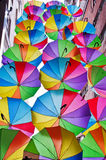 Flying umbrellas  on the street in Istanbul. Turkey Stock Photography