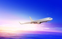 Flying-up airplane Royalty Free Stock Image