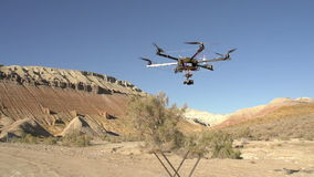 Flying Up Hexacopter stock video