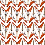 Flying V Guitar Pattern Royalty Free Stock Images