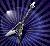 Flying v style electric guitar Royalty Free Stock Photography