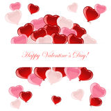 Flying Valentines heart Royalty Free Stock Photos