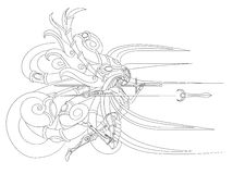 Flying Valkyrie. With spear and sword Royalty Free Stock Photography