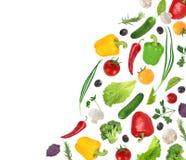 Flying vegetables Stock Photo
