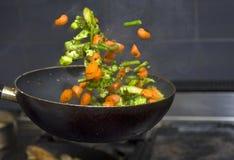 Flying veggies Stock Image