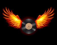 Flying Vinyl record Royalty Free Stock Photography