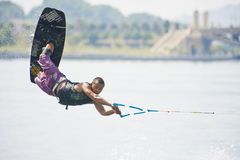 Flying Wakeboarder Stock Photography