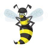 Flying wasp Royalty Free Stock Photo