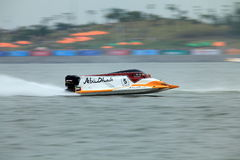 Flying on the water. United Arab Emirates Thani Al Qamzi from Team Abu Dhabi was flying fast at the final race at GP of China, finally he got posistion 6 Stock Photos