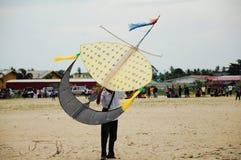 Flying Wau Bulan in Kelantan Stock Photos