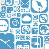 Flying web graphic interface icons Royalty Free Stock Image