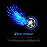 Flying wheel Stock Images