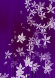 Flying white leaves Stock Images