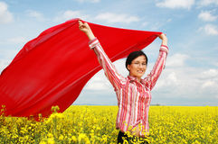 Flying with the wind Royalty Free Stock Photography