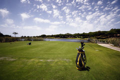 Flying with the wind. A picture of a golf course - sports concept Royalty Free Stock Photo