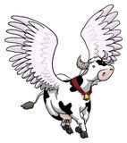 Flying winged cow Stock Images