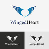 Flying wings Logo template. Royalty Free Stock Photography