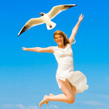 Flying on the wings of success Stock Images