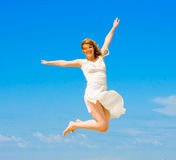 Flying on  wings of success Royalty Free Stock Photos