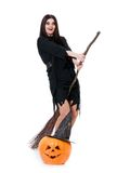 Flying witch Royalty Free Stock Photography