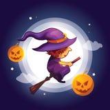 Flying wizard royalty free illustration