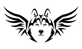 Flying wolf tattoo Royalty Free Stock Image