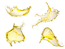 Flying yellow splashes collection Royalty Free Stock Photography