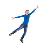 Flying young boy. Royalty Free Stock Photos