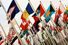 FlyingFlags stock photo