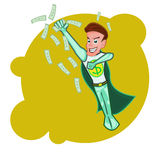 Flyingsuperhero Businessman  cartoon vector Royalty Free Stock Photography