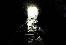Flykt från mörker arkivbilder