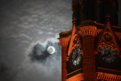 Flykt från moln Fotografering för Bildbyråer