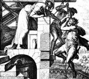 Flykt från Rahabs hus royaltyfri fotografi