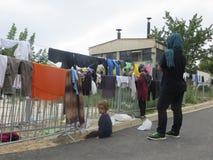 flyktingar Royaltyfria Bilder