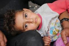 Flyktingflicka 4 Arkivfoto