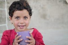 Flyktingflicka 6 Royaltyfri Fotografi