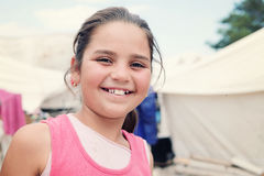 Flyktingflicka 10 Fotografering för Bildbyråer