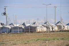 Flyktingläger arkivfoto
