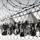 Flyktingläger Royaltyfri Foto