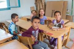 Flyktingläger av Lagadikia Royaltyfri Fotografi