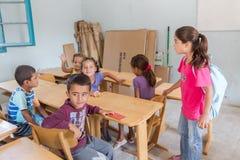 Flyktingläger av Lagadikia Arkivfoto
