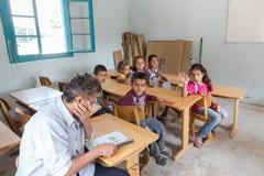 Flyktingläger av Lagadikia Arkivbild