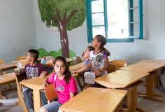 Flyktingläger av Lagadikia Royaltyfria Foton
