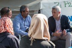 Flyktingläger av Lagadikia, Grekland Royaltyfria Bilder
