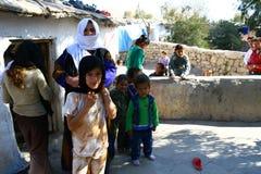 Flyktingläger i Irak arkivbild