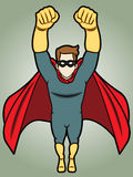 Flyng-Superheld Lizenzfreie Stockbilder