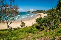 Flynns beach in Port Macquarie in the summer, Australia stock image
