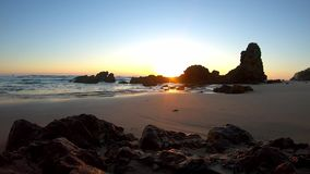 Flynns Beach sunrise time lapse stock video footage