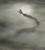 Flyoff da bruxa Fotos de Stock Royalty Free